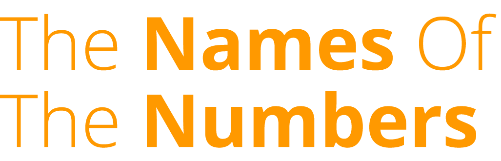 86 Lives :: The Names Of The Numbers